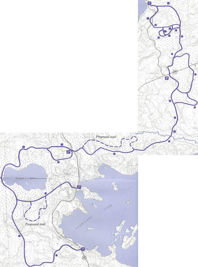 Ashawa Cross Country Skiing Map