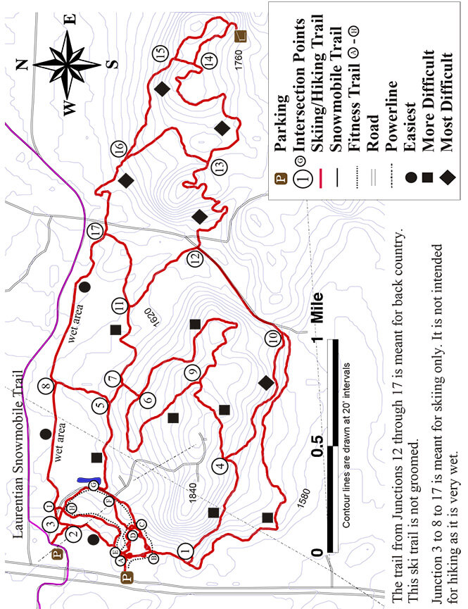 Lookout Mountain Cross Country Skiing Map