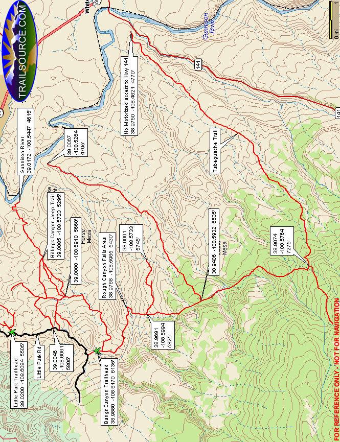 Bangs Canyon ATV Trails Map