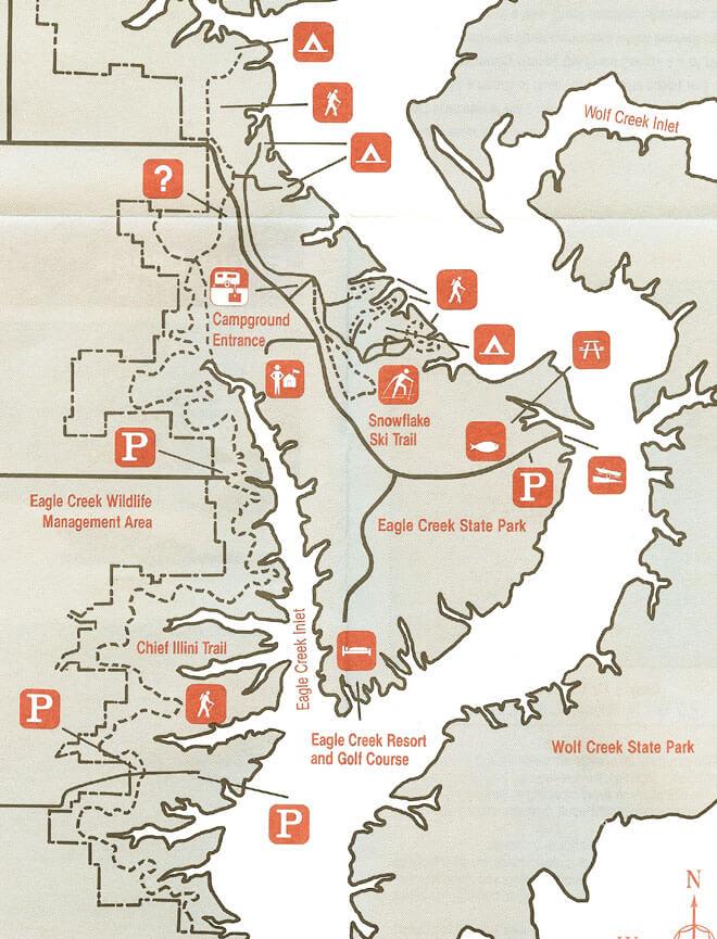 Eagle Creek State Park Hiking Map