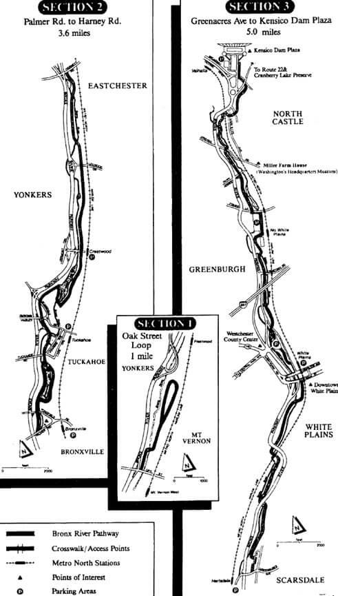 Bronx River Pathway Mountain Biking Map