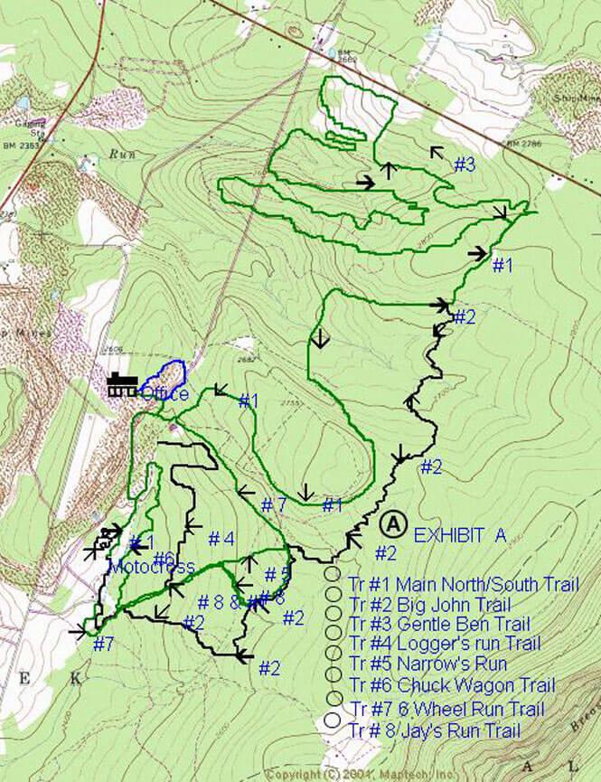 Mountain Ridge ATV Trails ATV Trails Map