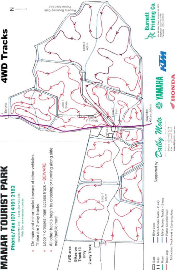 Manar Tourist Park Dirt Biking Map