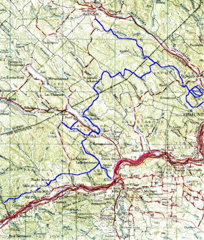 Clair - Edmundston - Ste. Rose de Degelie ATV Trails Map