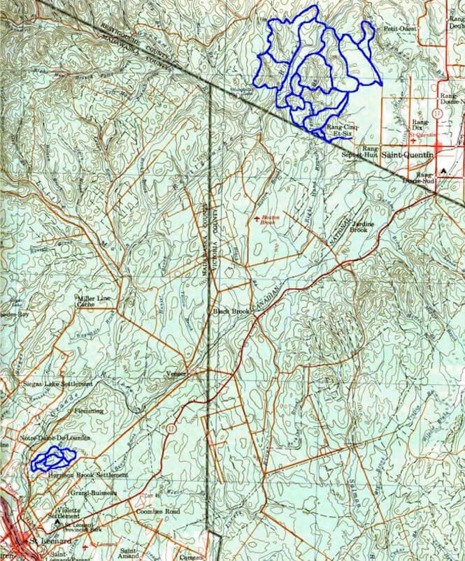 St. Quentin - St. Leonard ATV Trails Map