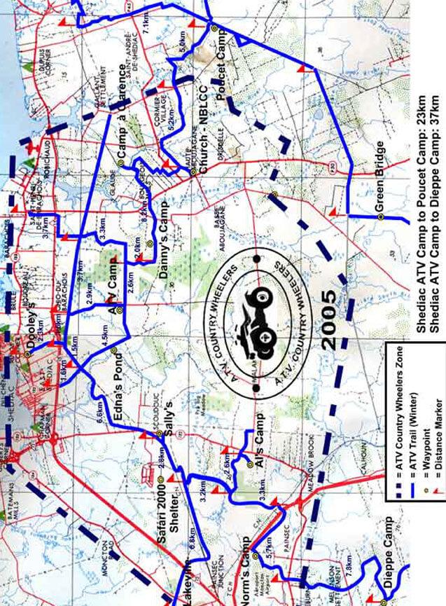 Shediac ATV Trails Map