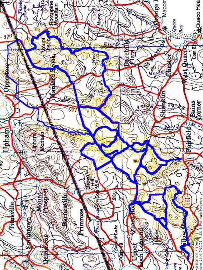 Saint John Trail System ATV Trails Map