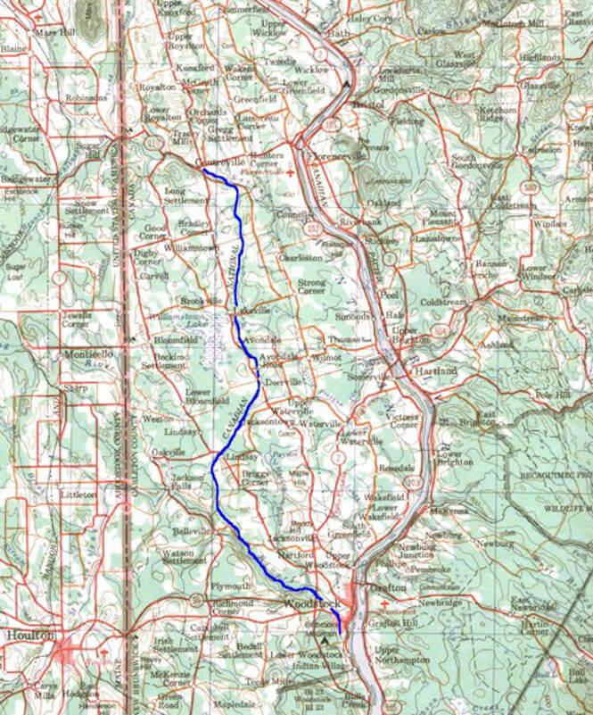 Woodstock - Centerville ATV Trails Map