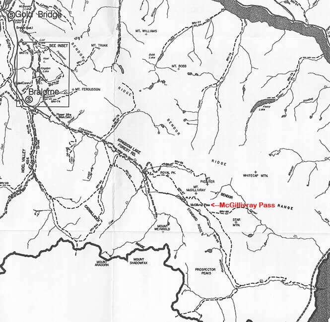 McGillvray Pass ATV Trails Map