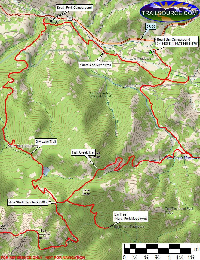 Heart Bar Campground Horseback Riding Map