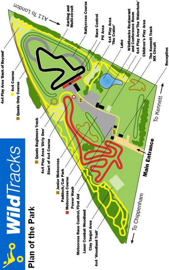WildTracks Offroad Park Dirt Biking Map
