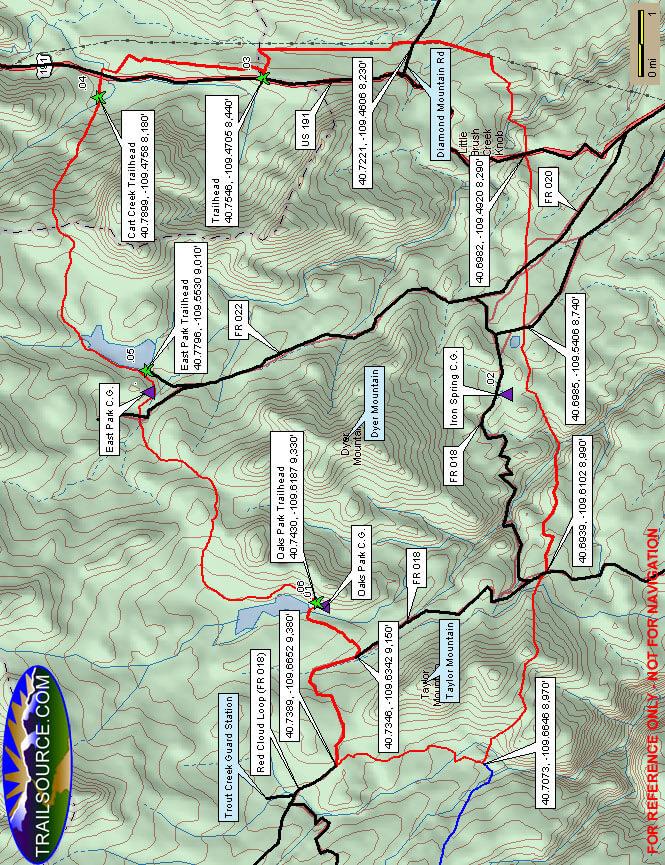 Outlaw ATV Trail Dirt Biking Map