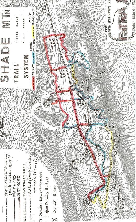 Shade Mountain Trail System Dirt Biking Map