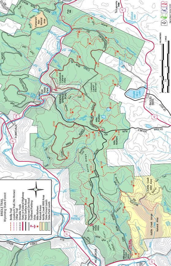 Bridle Trail Horseback Riding Map