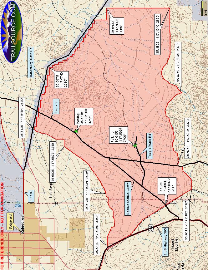 Spangler Hills OHV Area Dirt Biking Map