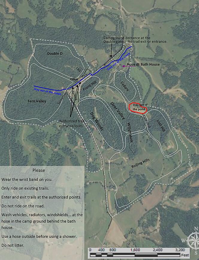 Woolys Off Road ORV Dirt Biking Map