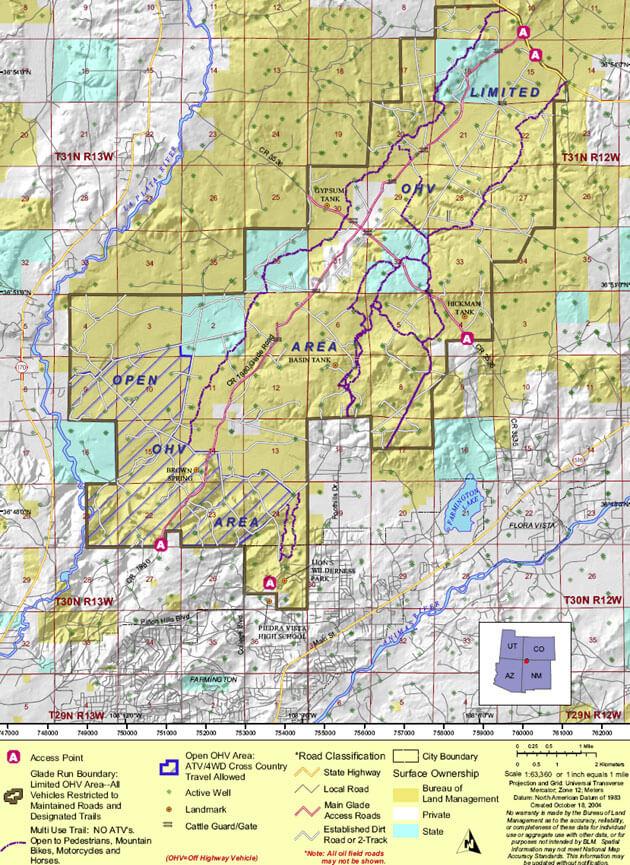 Glade Run ORV Recreation Area Dirt Biking Map