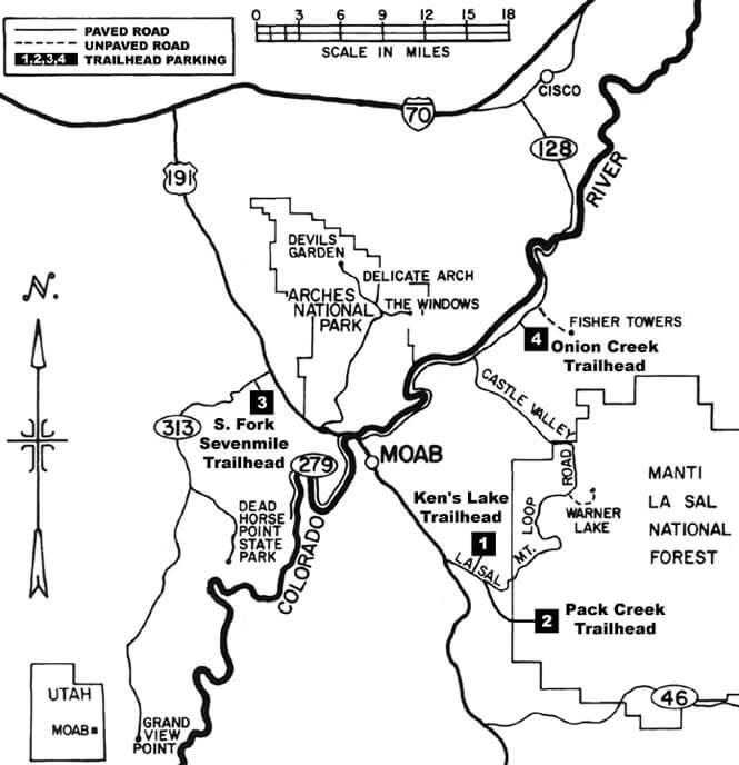 Seven Mile Canyon Trail Horseback Riding Map