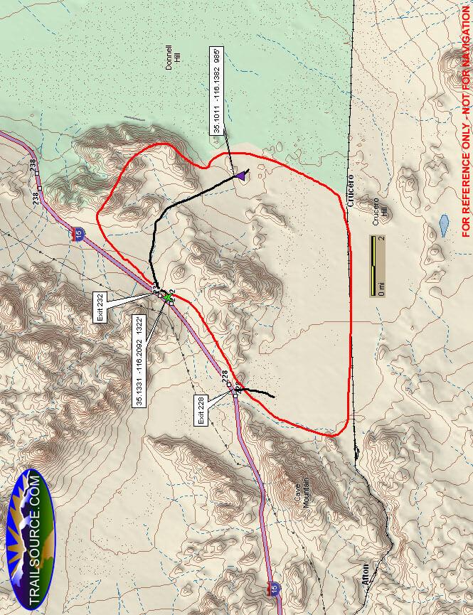 Rasor OHV Area OHV Driving Map