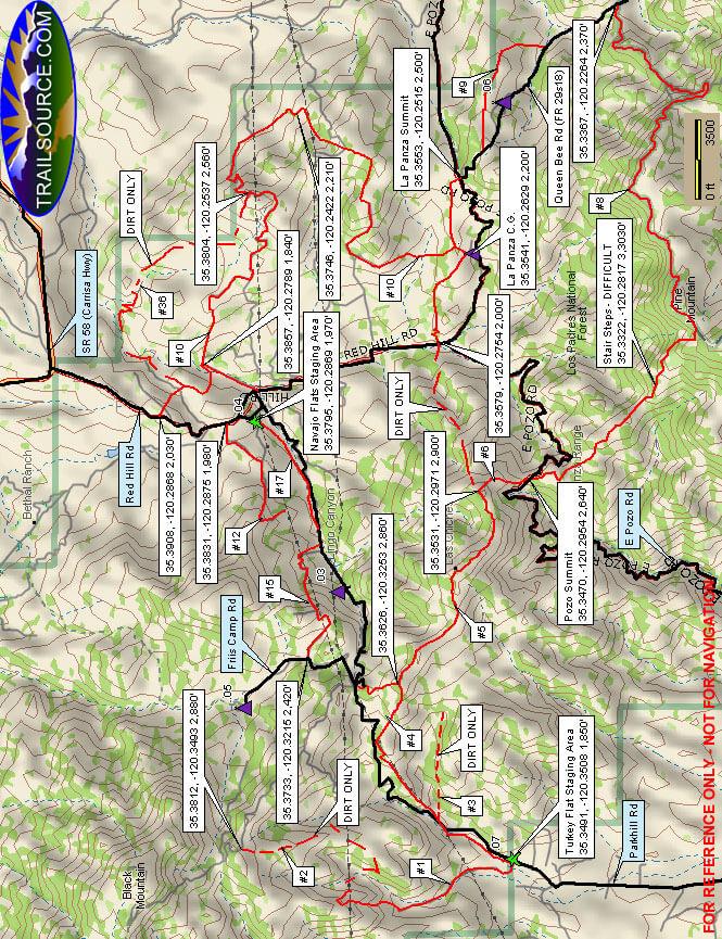 Pozo/La Panza OHV Area - Burnout OHV Driving Map