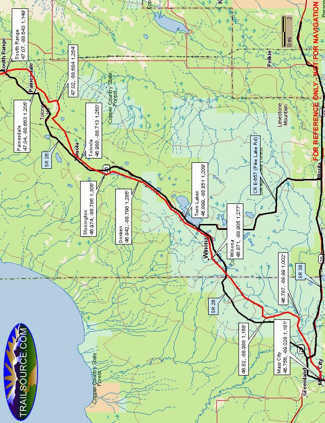 Bill Nicholls ORV Route OHV Driving Map