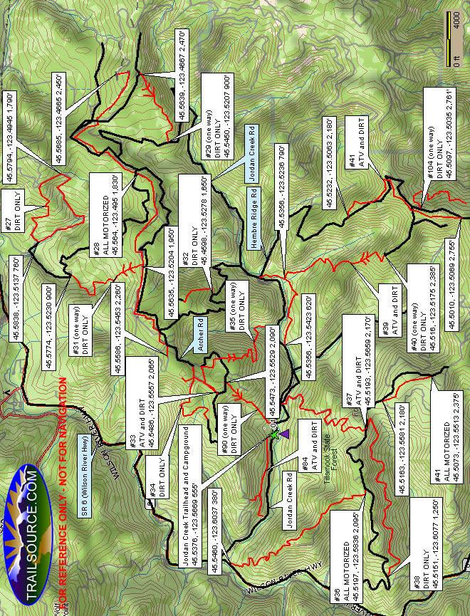 Jordan Creek OHV Area OHV Driving Map