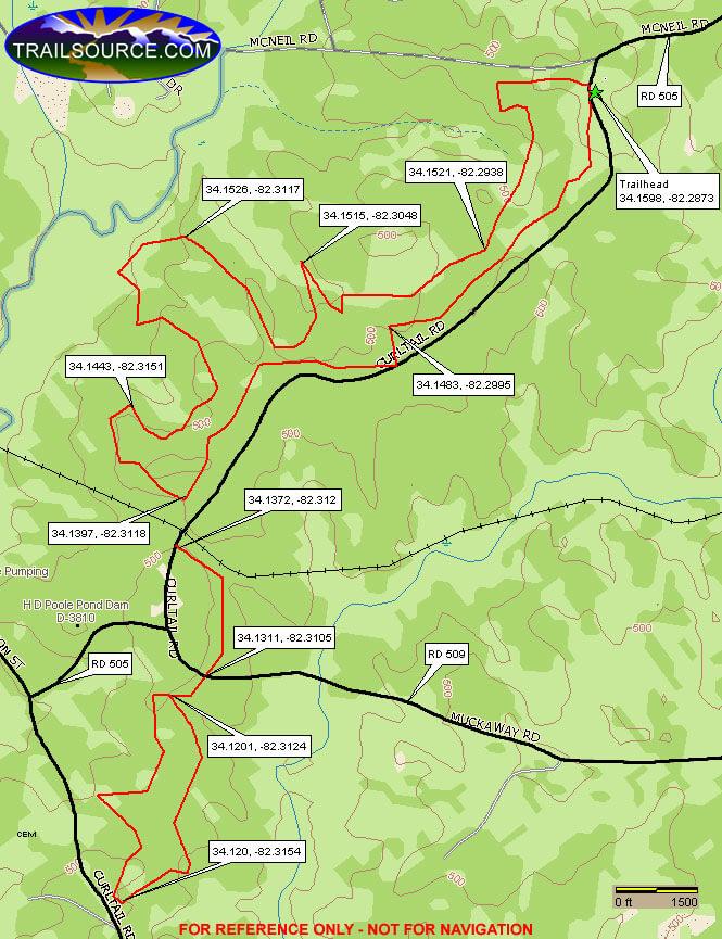 Cedar Springs ORV Trail OHV Driving Map