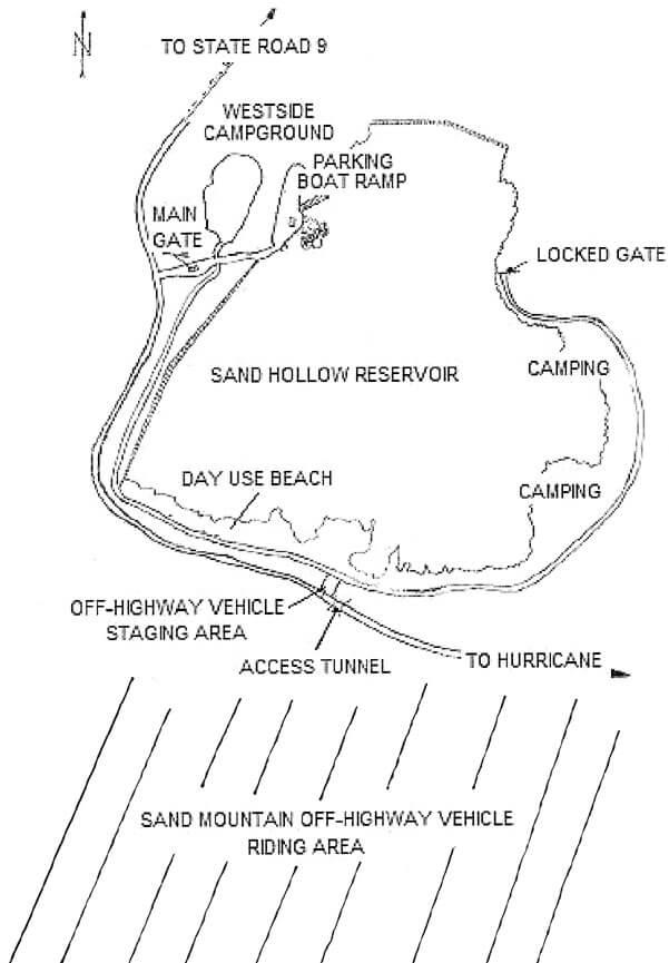Sand Mountain ORV Riding Area Dirt Biking Map