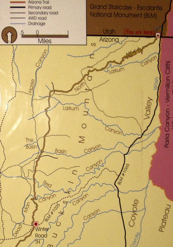 Arizona Trail - Stateline Hiking Map