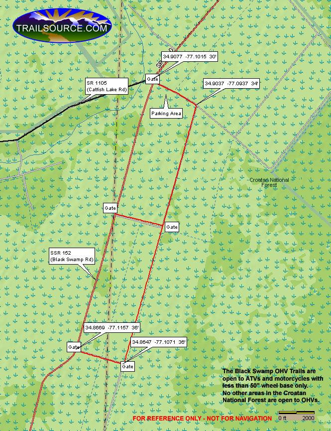 Black Swamp ORV Area Dirt Biking Map