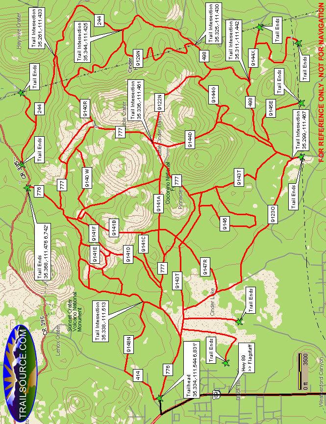 Cinder Hills OHV Area OHV Driving Map