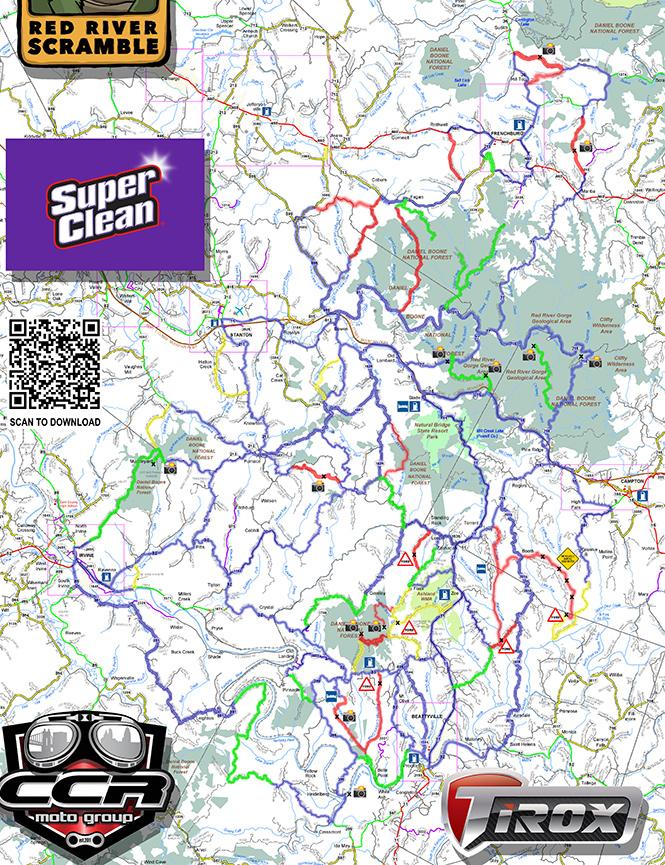 Daniel Boone Trail Riding System Dirt Biking Map