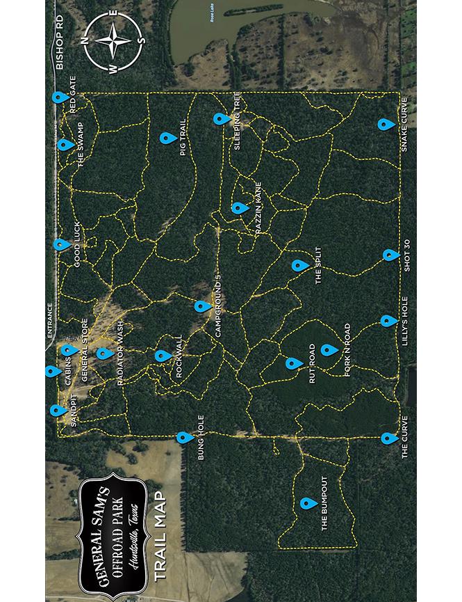 General Sams Off-Road Park ATV Trails Map