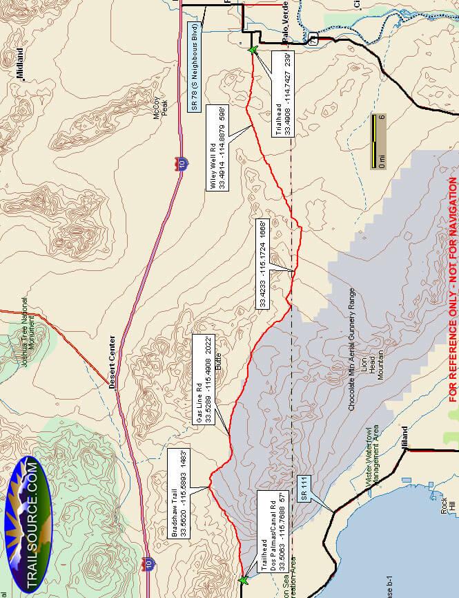 Bradshaw ORV Trail Dirt Biking Map