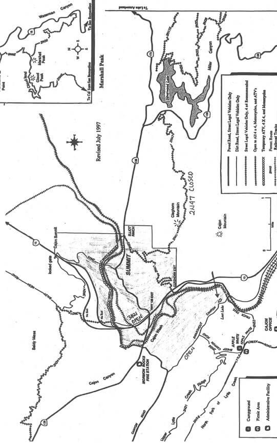 Cleghorn Ridge OHV Driving Map