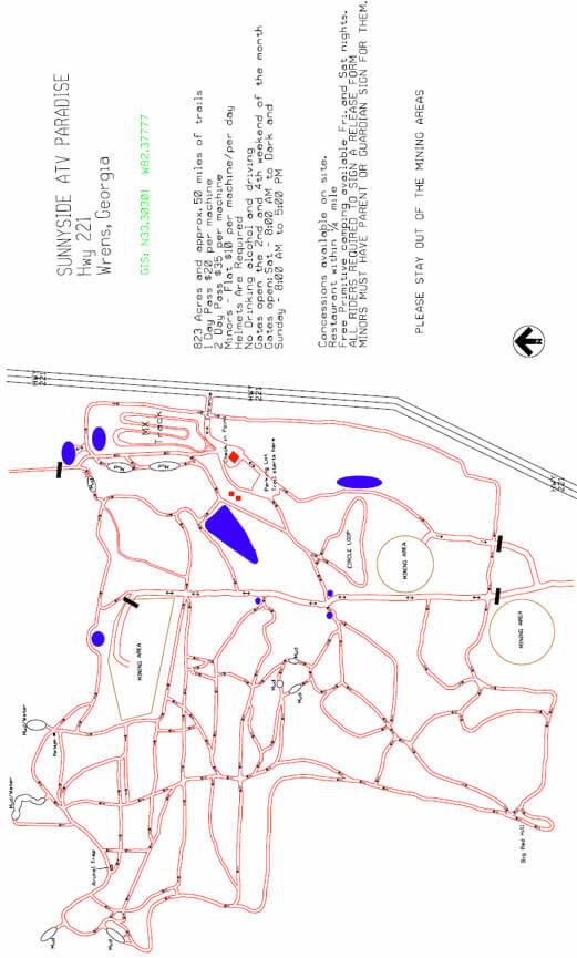 Sunnyside Paradise Dirt Biking Map