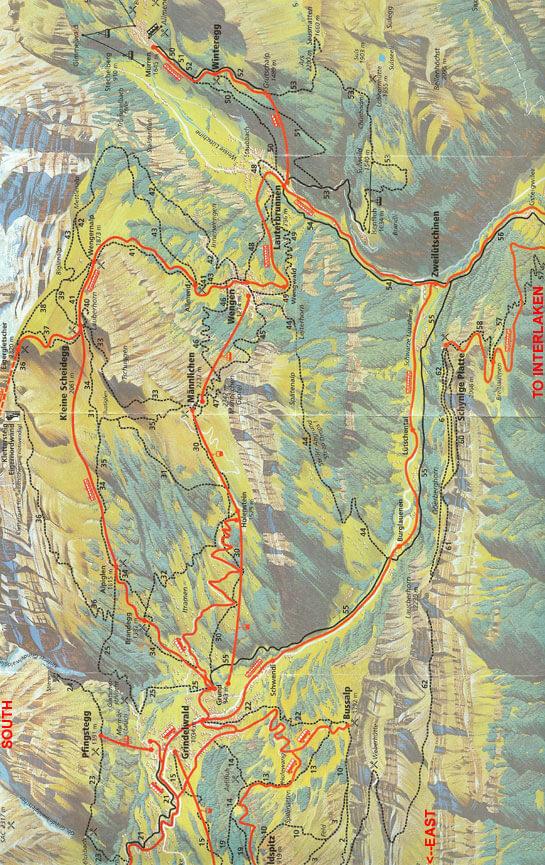 Interlaken Hiking Map