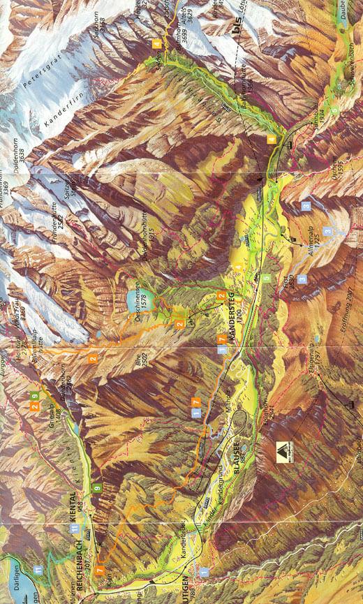 Loetschberg Hiking Map