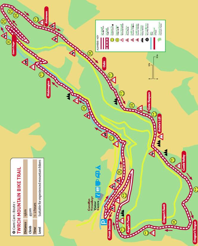 Cwm Carn Bike Centre Mountain Biking Map