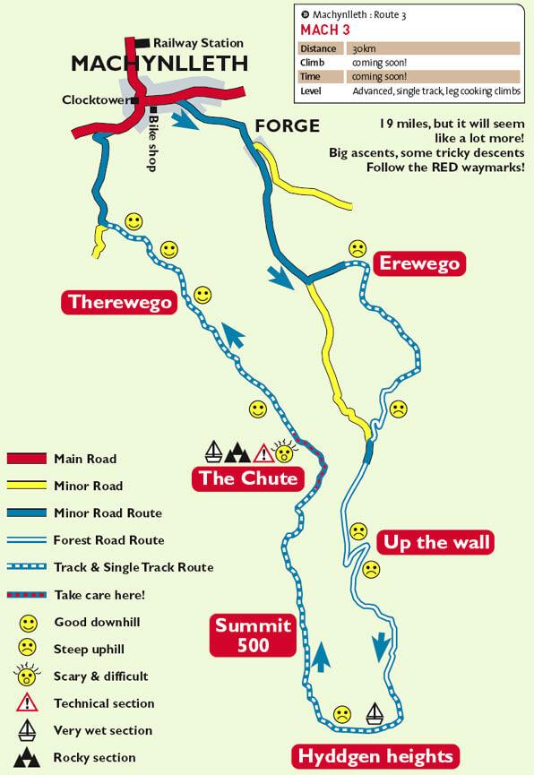 Machynlleth Mountain Biking Map