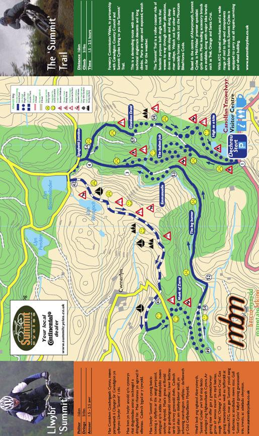 Nant-yr-Arian Forest Mountain Biking Map