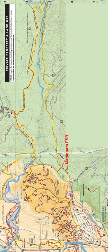 Mamquam FSR ATV Trails Map