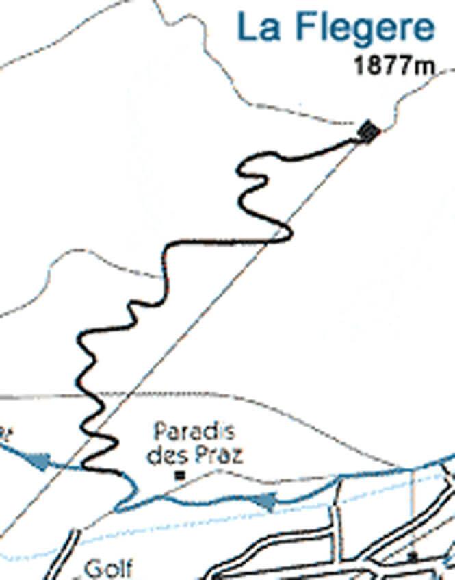 La Flegere Hiking Map