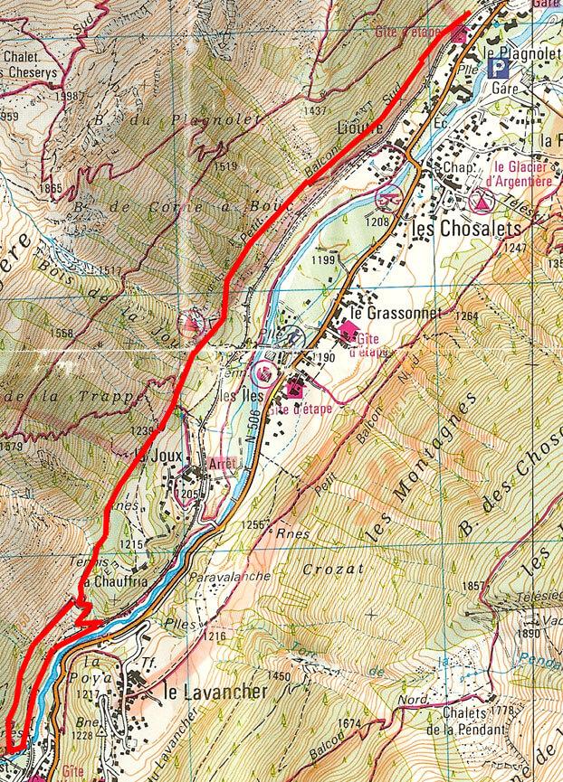 Planpraz Hiking Map