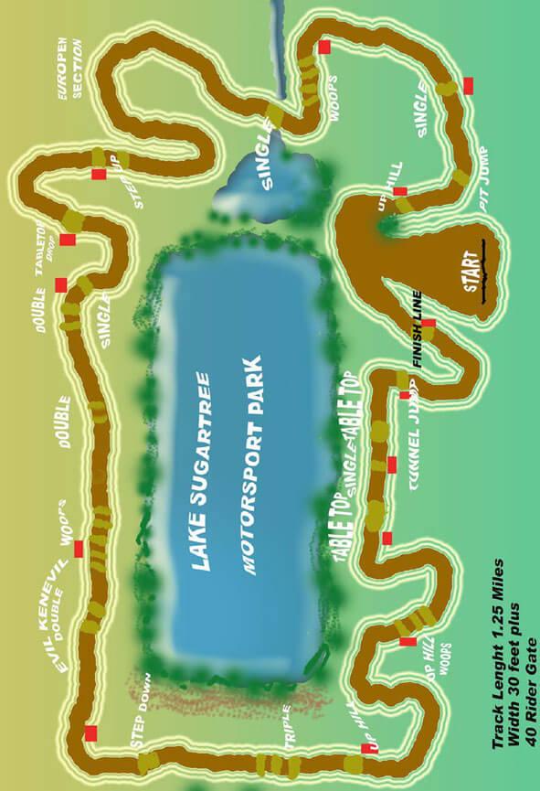 Lake Sugar Tree Motosports Park Dirt Biking Map