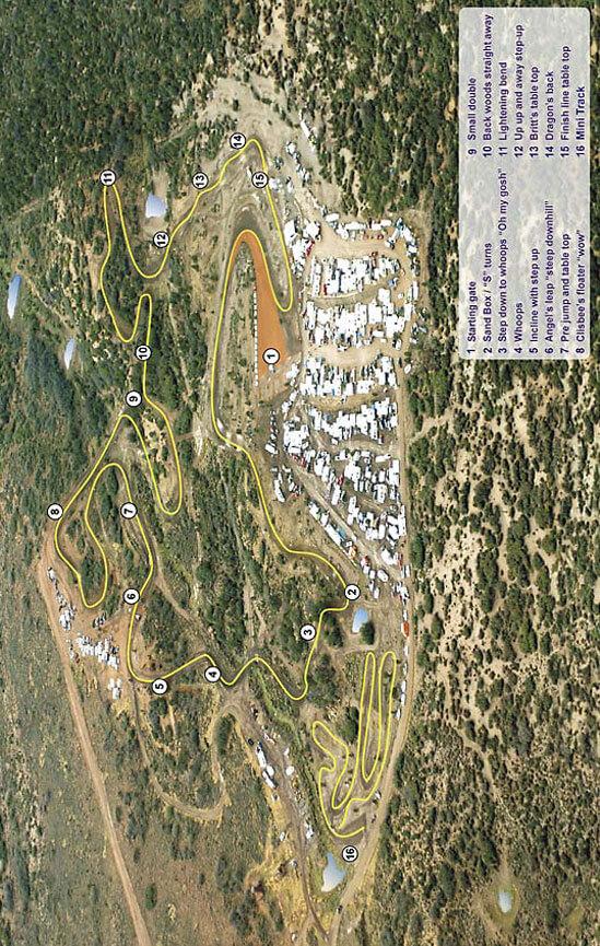 Bull Hollow Raceway Dirt Biking Map