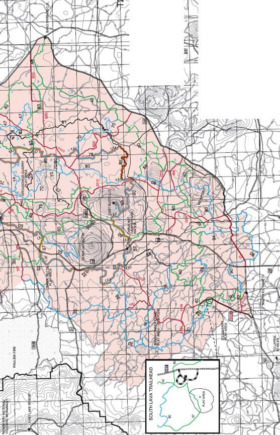 East Fort Rock ORV - South Lava Trailhead Dirt Biking Map
