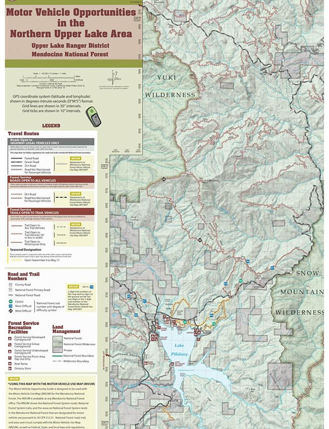 Upper Lake OHV Area - North Dirt Biking Map