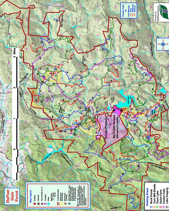 The Waterfall Loop Horseback Riding Map