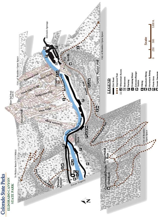 Eldorado Canyon State Park Hiking Map